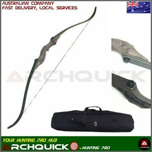 """ARCHQUICK Archery 58"""" Recurve Hunting Bow Bag set Target & Hunting 30-60lbs Pro"""
