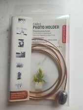 """Kikkerland Cable Photo Holder With Magnets 58"""" Gold"""