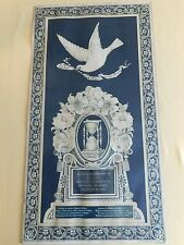 """26"""" X 14"""" 1899 MEMORIAL GONE NOT FORGOTTEN DOVE DEATH POSTER BETSY BROWN"""