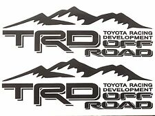 2 BLACK TOYOTA TRD TRUCK OFF ROAD 4x4 TOYOTA RACING TACOMA TUNDRA DECAL STICKER