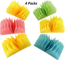 4A Sticky Pop-up Note Memo Reminder 3'' x 3'' Pastel Assorted Total 2400 Sheets