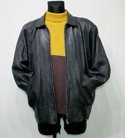 FRITALA Finland Jacket 90s Vintage Soft Leather Jacket Black Womens UK 12 US 10