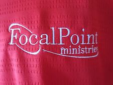 Focal Point Ministries Red Polo Shirt Adidas Climalite Dave Financial Size XL