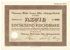 Phänomen - Werke Gustav Hiller AG 1929 Zittau 1000RM