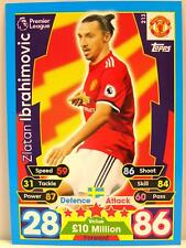 Match Attax 2017/18 Premier League - #213 Zlatan Ibrahimovic - Manchester United