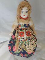 """Glazed Porcelain Ethnic Doll 10"""" Tall"""