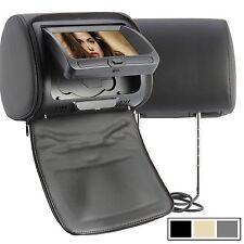 "2x 7"" Car Headrest DVD Player Radio Monitor+Free Game Handles, FM, SD,USB,USA"