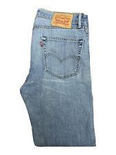 Original Levi's 751 Reg Straight Leg Blue Stretch Denim Jeans W33 L32 ES 7159