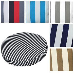 Round Box Shape Cover*Stripes Cotton Canvas Chair Seat Cushion Case Custom*AK3