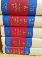 Vtg Westerns Zane Grey Lot of 5 Books Walter J. Black Inc. Preowned Hardcovers