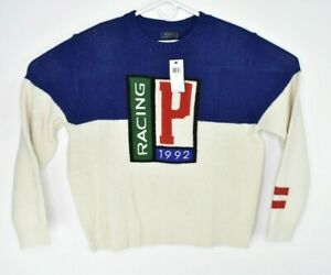 New Polo Ralph Lauren Men's Racing 1992 Holyday Ex Wool Seater Size M, L $348