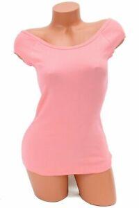 Jenni by Jennifer Moore Juniors Ribbed Cap Sleeve Pajama Top Salmon Rose NWT