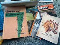 Vintage Horses And Horsemanship Esminger1969 &Horse Lot of 6 Books Calendar