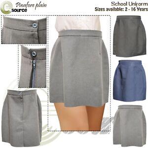 Girls Kids Plain Skirts School Uniform Skirts 2-16 Years & UK 8 - UK 18