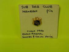 Vintage Sub Deb Club Members 1950 Hoover & Smith Pin, Lapel Pin, Pinback
