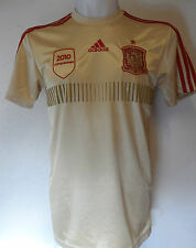 SPAIN FOOTBALL 2014 GOLD AWAY SHIRT BY ADIDAS ADULTS SIZE LARGE BRAND NEW