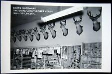 HILL CITY South Dakota ~1950's COATS HARDWARE THE STORE WITH THE DEER HEADS~RPPC