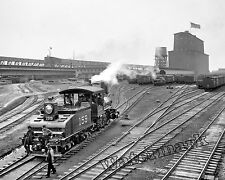 Historical Photograph of a New Orleans Train Yard Switcher Engine  1902c  8x10