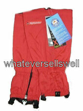 RED WALKING GAITERS Hiking gaitors climbing trekking