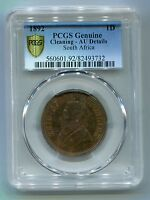 South Africa ZAR PCGS Graded 1892 Kruger Penny AU Details with Rainbow Toning