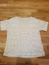 99cc055019 Madewell lace Short Sleeve T-Shirt Size Large Cream; cotton