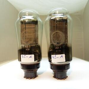 2x VALVO AD1 AD 1 BIG COKE BOTTLE testet Röhre tube Valvola EBIII Ed