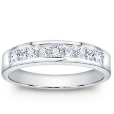 1.00 ct Men's Princess Cut Diamond Wedding Band Ring In Channel Setting 14 kt