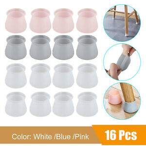 4/8/12/16PCS Silicone Chair Leg Caps Feet Cover Pads Furniture Floor Protectors