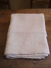 Grand drap en lin superbement ajouré -  L = 280 cm, largeur = 230 cm