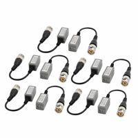 10pcs UTP Passive Video Balun Transceiver Gray for HDCVI HDTVI AHD CCTV System