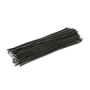 40pcs Breadboard Jumper Jump Cable Wires Tin plated 100mm Different colours
