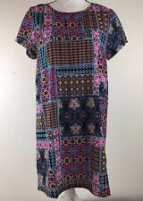 Made By MINKPINK Dress Womens Size Small Kilim Patch Tee Multicolored Dress. K2