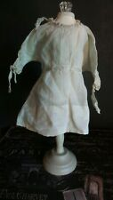 Antique Doll Dress with Draw String Embroidered Ribbon For Bisque & China Dolls