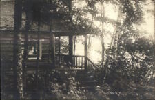 Patten ME Upper Shin Pond Camps c1920s Bicknell Real Photo Postcard