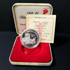 1989 Singapore Save The Children Fund SGD 5 Dollar Proof coin set No: 1725