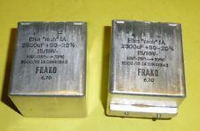 2 x Kondensator Frako 2500 µF 15/18 Volt