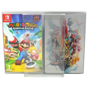 10 x GP14 Switch Game Box / Steelbook Protectors For Nintendo 0.4mm Display Case