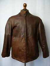 Men's Vintage 1940'S Industrial Workwear Leather Jacket 40R (S)