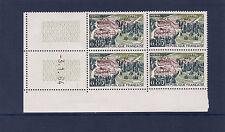 timbre France bloc de 4 coin daté   Vittel   num: 1384  **
