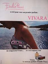 PUBLICITÉ DE PRESSE 1966 VIVARA PARFUM D'ÉMILIO PUCCI - ADVERTISING