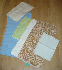 6 Piece Mixed Lot Of Vintage Doll/Baby Bedding Blankets, Pillow Case