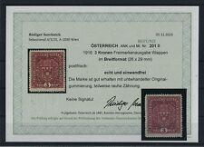 Postfrische Briefmarken mit BPP-Fotoattest österreichische (bis 1945)