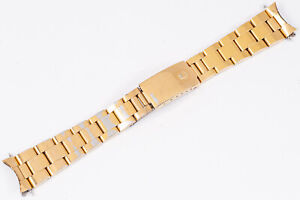 Vintage 78351 A Rolex Gold Plated Oyster Bracelet 19 mm P 457 Ends for 1550 1024