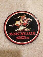 VINTAGE Winchester Western Enamel Metal Magnet