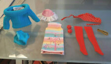 Vintage Barbie Skipper Doll Rainy Day Checkers Stockings Outdoor Casuals Hat Lot