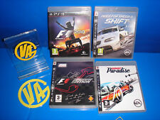 Lotto di 4 giochi playstation 3-FORMULA 1-Champion edition-2010-BURNOUT PARADISE
