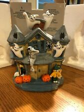 Partylite Halloween Haunted Tealight House Candle Holder P7311 Retired ghosts