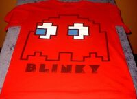 Cool Retro PAC-MAN Blinky Red Pac Man T-Shirt Small Free USA Shipping!