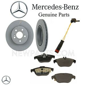 For Mercedes C207 E350 E550 C204 A204 Rear Brake Pad Set & Rotors & Sensor Kit