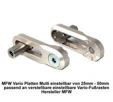 MFW Vario Platten Multi passend für MFW verstellbare Fussrasten Variogelenke